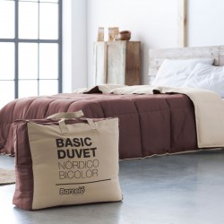 NÓRDICO DUVET BASIC BICOLOR MARRON-CREMA
