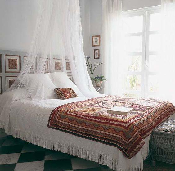 cortinas para la cama