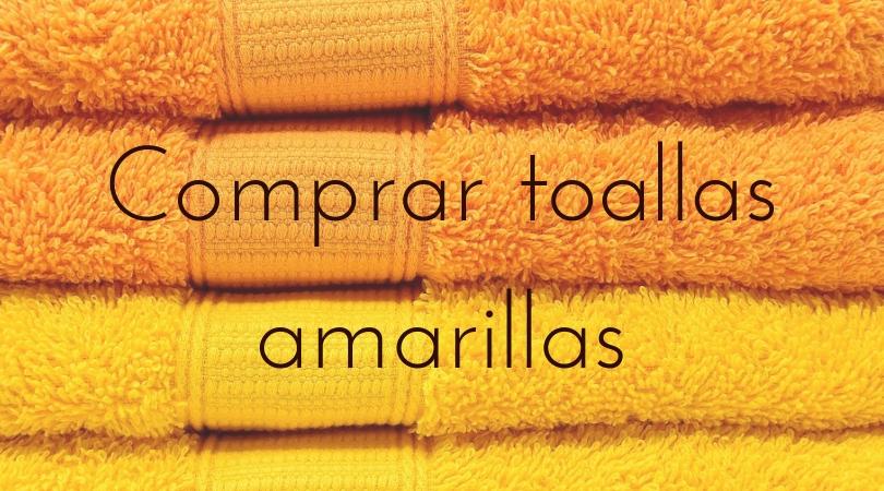 comprar toallas amarillas